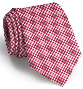 Houndstooth: Tie - Red