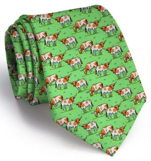 Longhorn Country: Tie - Green