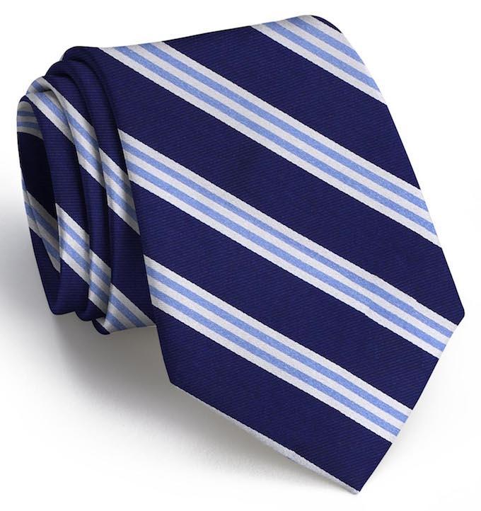 On Air Stripe: Tie - Navy/Blue