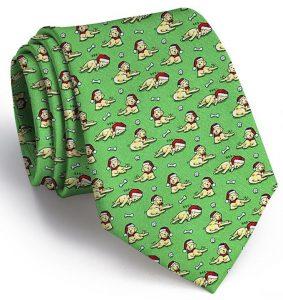 Santa Paws: Tie - Green