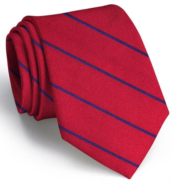 Sheffield Stripe: Tie - Red/Blue