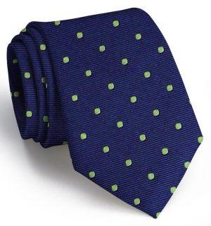 Spot On: Tie - Dark Blue/Lime