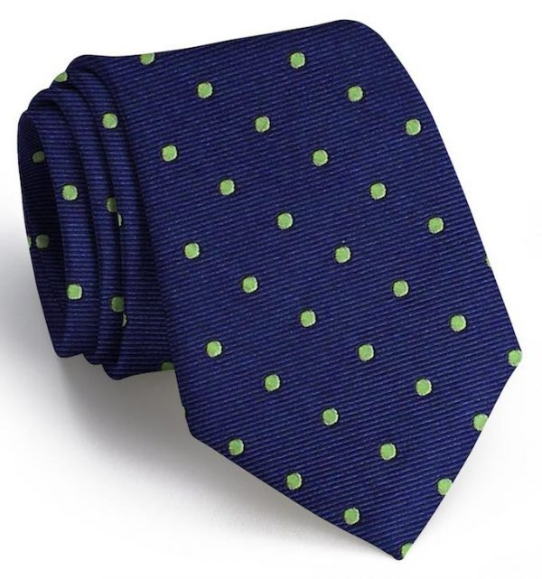 Spot On: Tie - Dark Blue/Lime