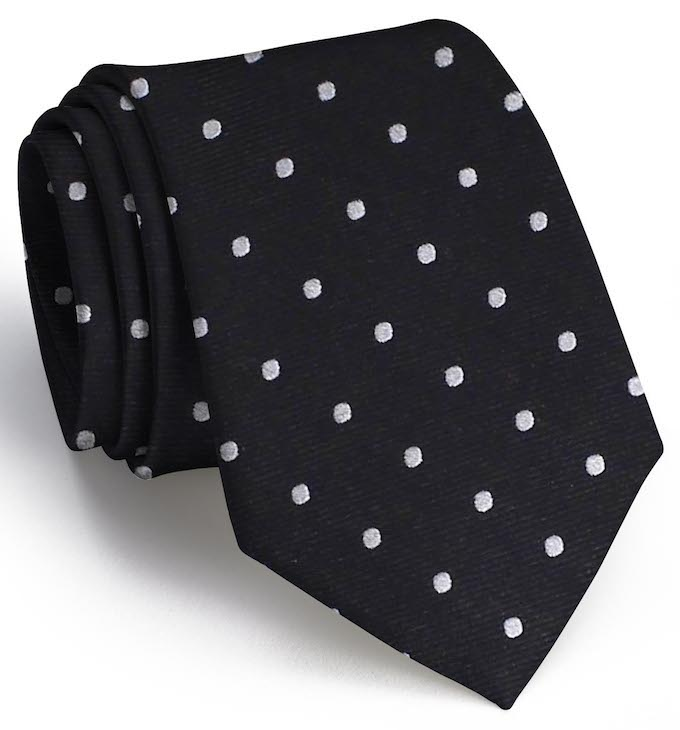 Spot On: Tie - Black/Gray