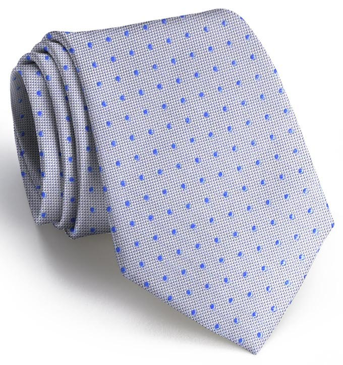 Sutton Spots: Tie - Gray/Blue