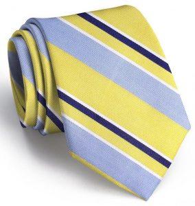 Wayfair Stripe: Tie - Yellow/Blue