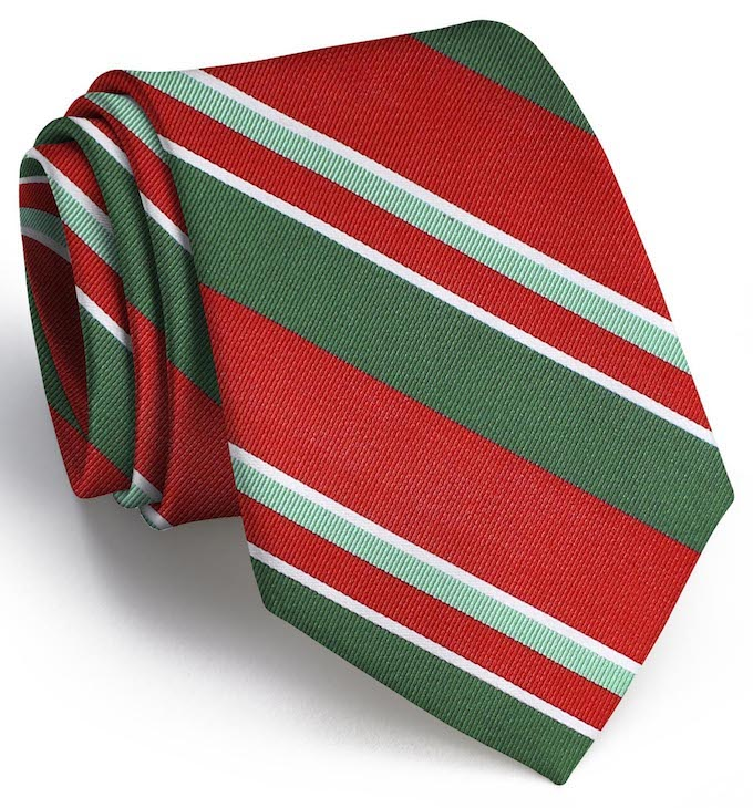 Wayfair Stripe: Tie - Red/Green