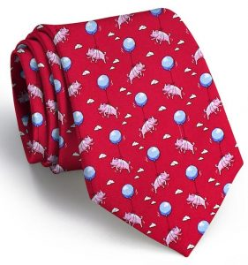When Pigs Fly: Tie - Red