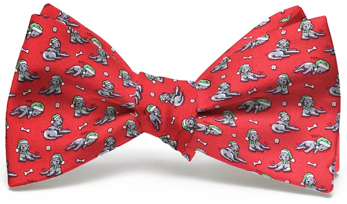 Santa Paws: Boy's Bow - Red