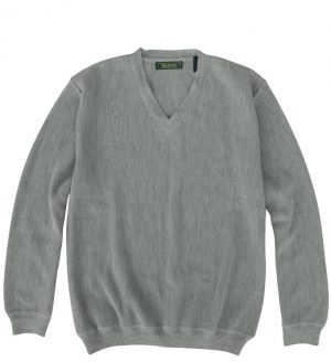 Sweater: V Neck - Gray