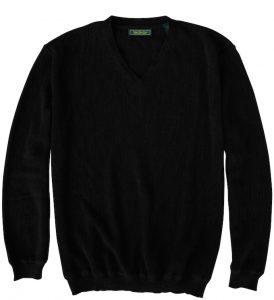 Sweater: V Neck - Obsidian