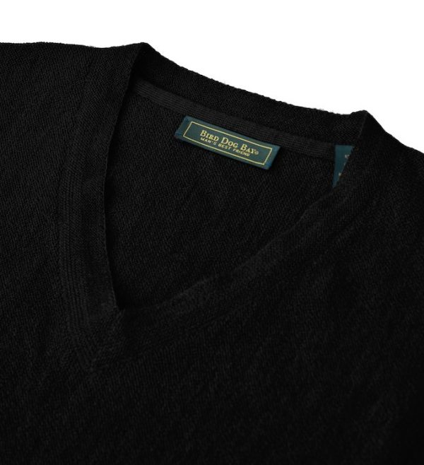 Sweater: V Neck - Obsidian