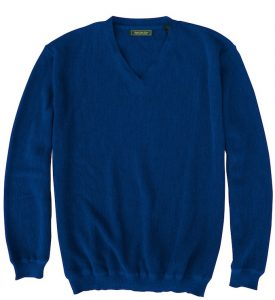 Sweater: V Neck - Navy
