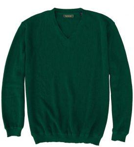 Sweater: V Neck - Emerald