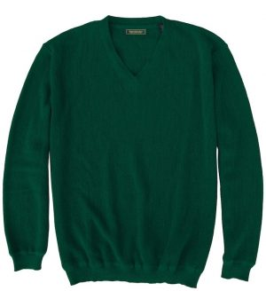 Sweater: V Neck - Emerald