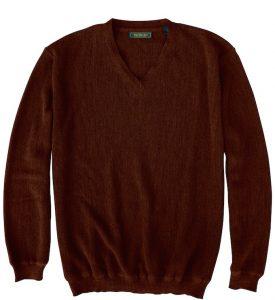 Sweater: V Neck - Chocolate Lab