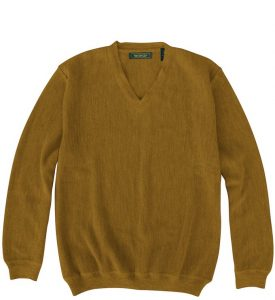 Sweater: V Neck - Sandstone