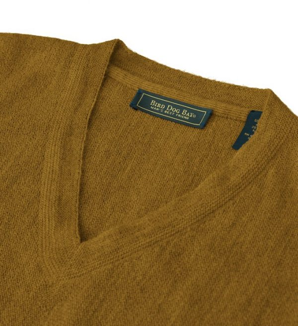 Sweater: V Neck - Sandstone