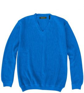 Sweater: V Neck - Blue Jay