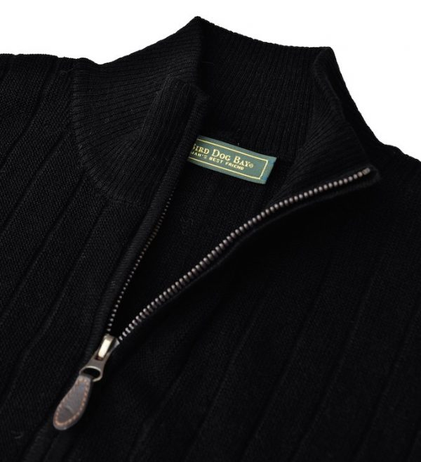 Sweater: Quarter Zip - Obsidian