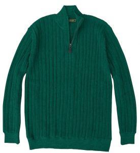 Sweater: Quarter Zip - Emerald