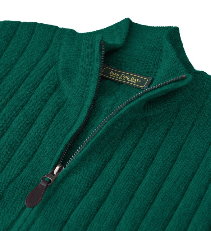 Sweater: Quarter Zip - Emerald