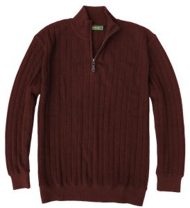 Sweater: Quarter Zip - Merlot