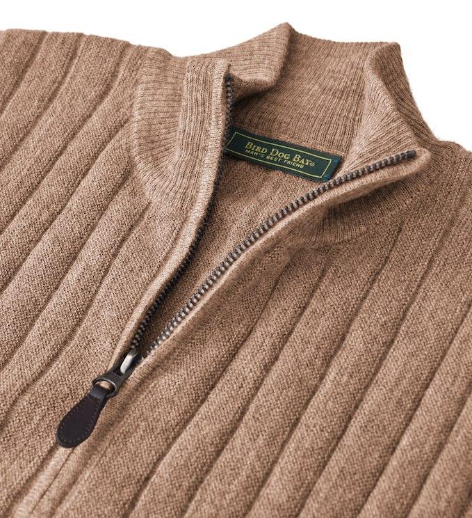 Sweater: Quarter Zip - Sandstone