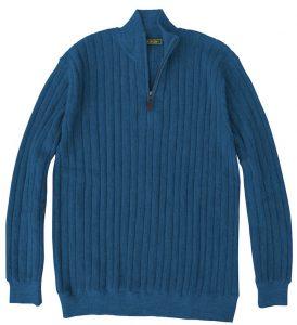 Sweater: Quarter Zip - Blue Jay