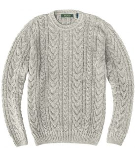 Sweater: Cable Knit - Natural