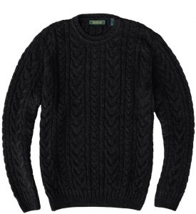 Sweater: Cable Knit - Obsidian