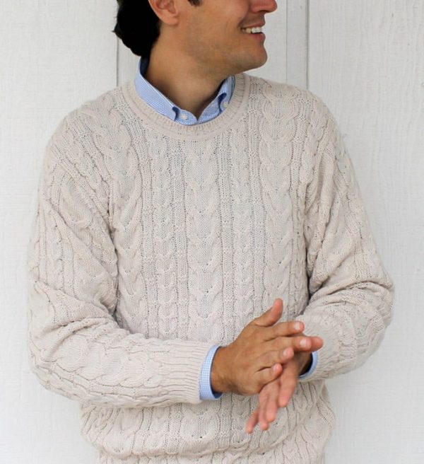 Sweater: Cable Knit - Purple