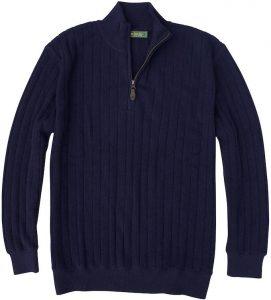 Sweater: Quarter Zip - Navy