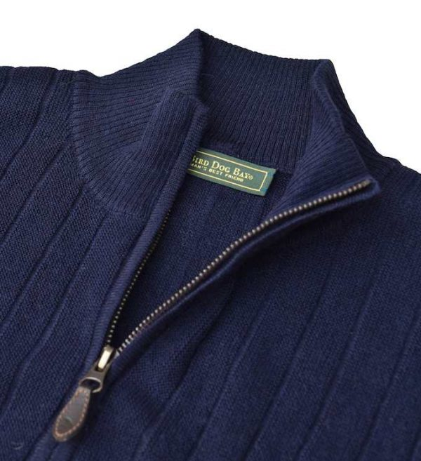 Sweater: Quarter Zip - Navy