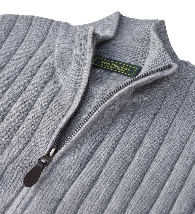 Sweater: Quarter Zip - Slate