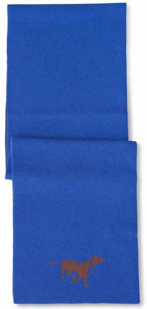 Scarf: Chocolate Lab - Blue