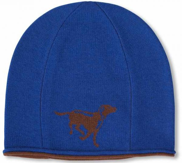 Winter Hat: Chocolate Lab - Blue
