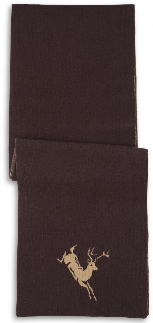 Scarf: Deer - Brown