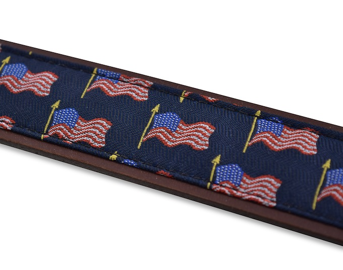 American Flag: Pedigree English Woven Belt - Navy