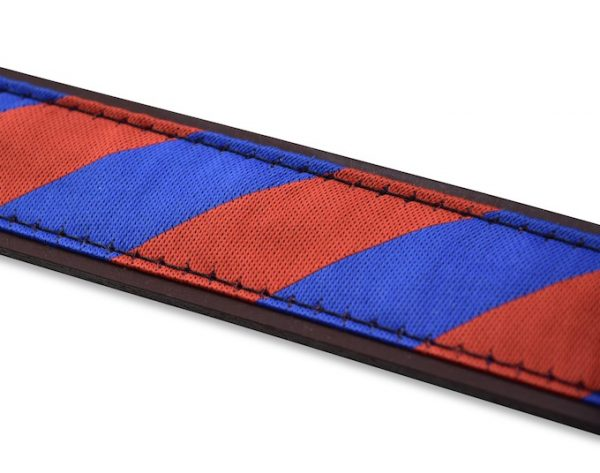 Clarkson Stripe: Pedigree English Woven Belt - Red/Blue