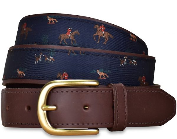 Fox Hunt: Pedigree English Woven Belt - Navy