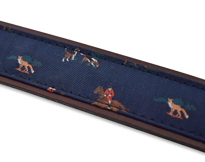 Fox Hunt: Pedigree English Woven Belt - Navy