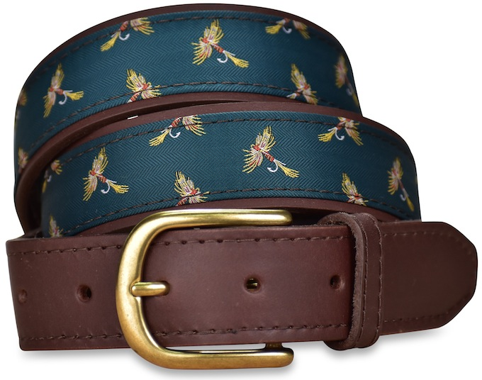 Royal Wulff: Pedigree English Woven Belt - Green