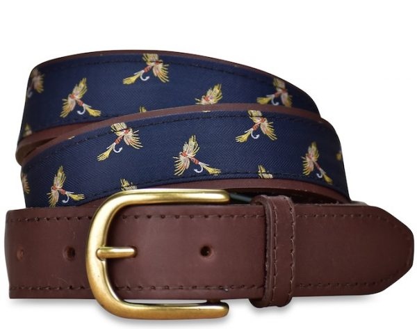 Royal Wulff: Pedigree English Woven Belt - Navy
