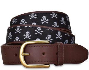 Skull & Crossbones: Pedigree English Woven Belt - Black