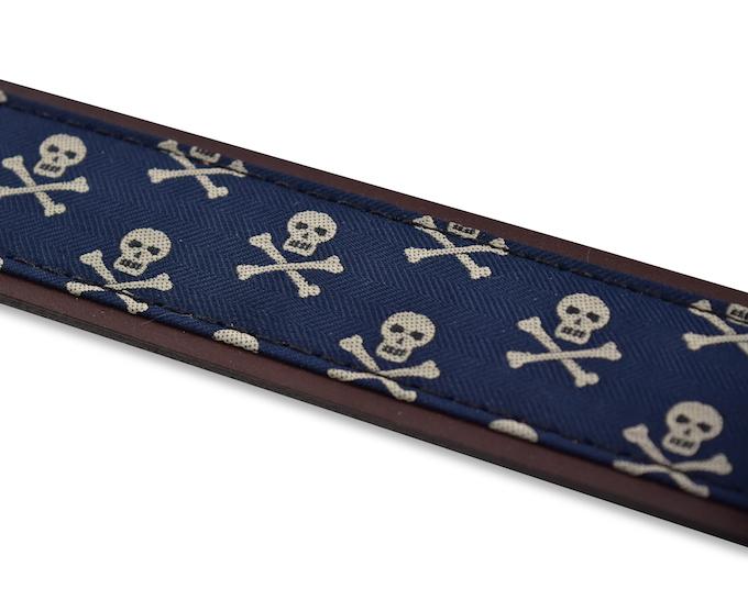 Skull & Crossbones: Pedigree English Woven Belt - Navy