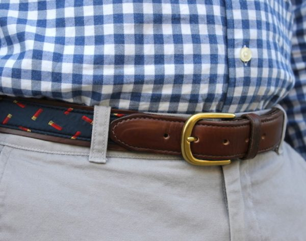 Yellow Labradors: Pedigree English Woven Belt - Navy