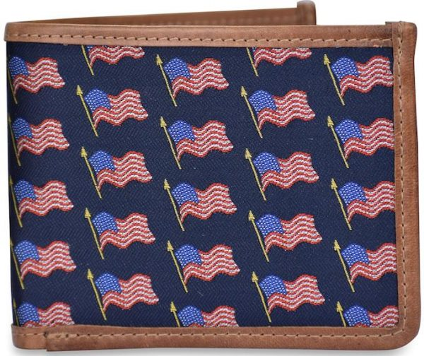 American Flag: Billfold Wallet - Navy