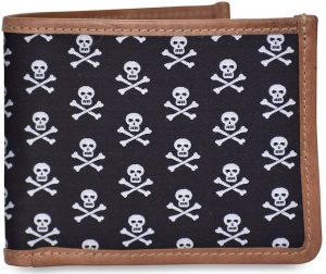 Skull & Crossbones: Billfold Wallet - Black
