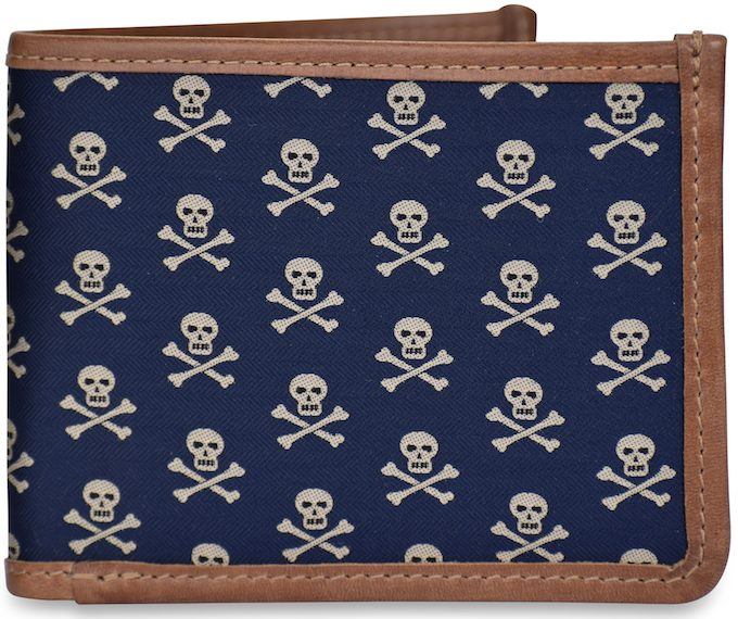 Skull & Crossbones: Billfold Wallet - Navy